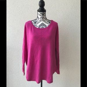 😍NWT Lord&taylor 💯 cashmere pink oversized 2X